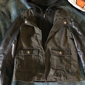 Army/leather jacket